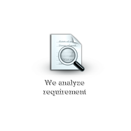We analyze requirement
