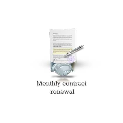 Monthly contract renewal
